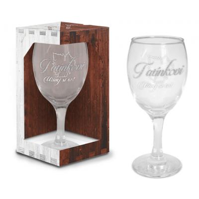Sklenice na víno - Tatínkovi