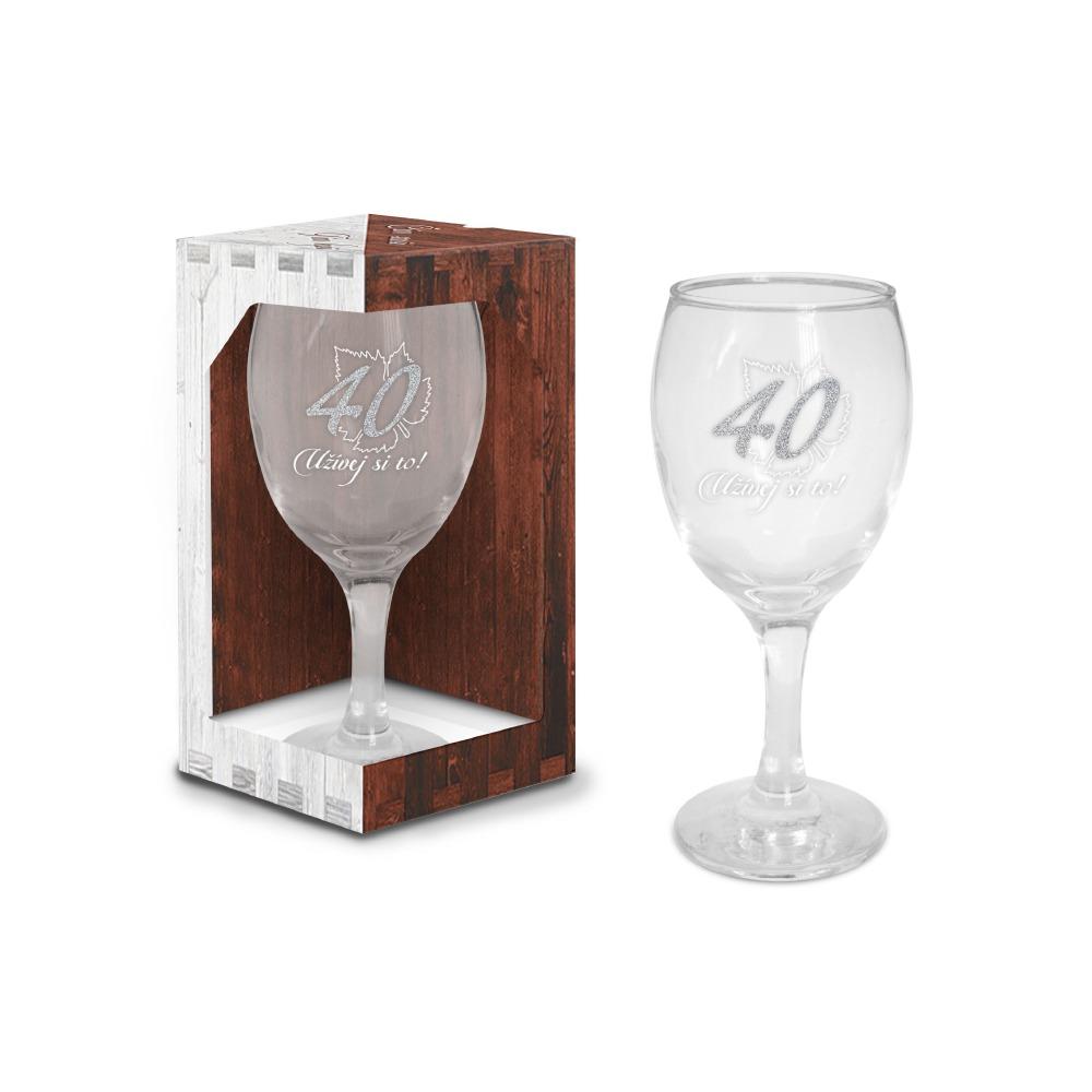 Sklenice na víno - narozeniny 40