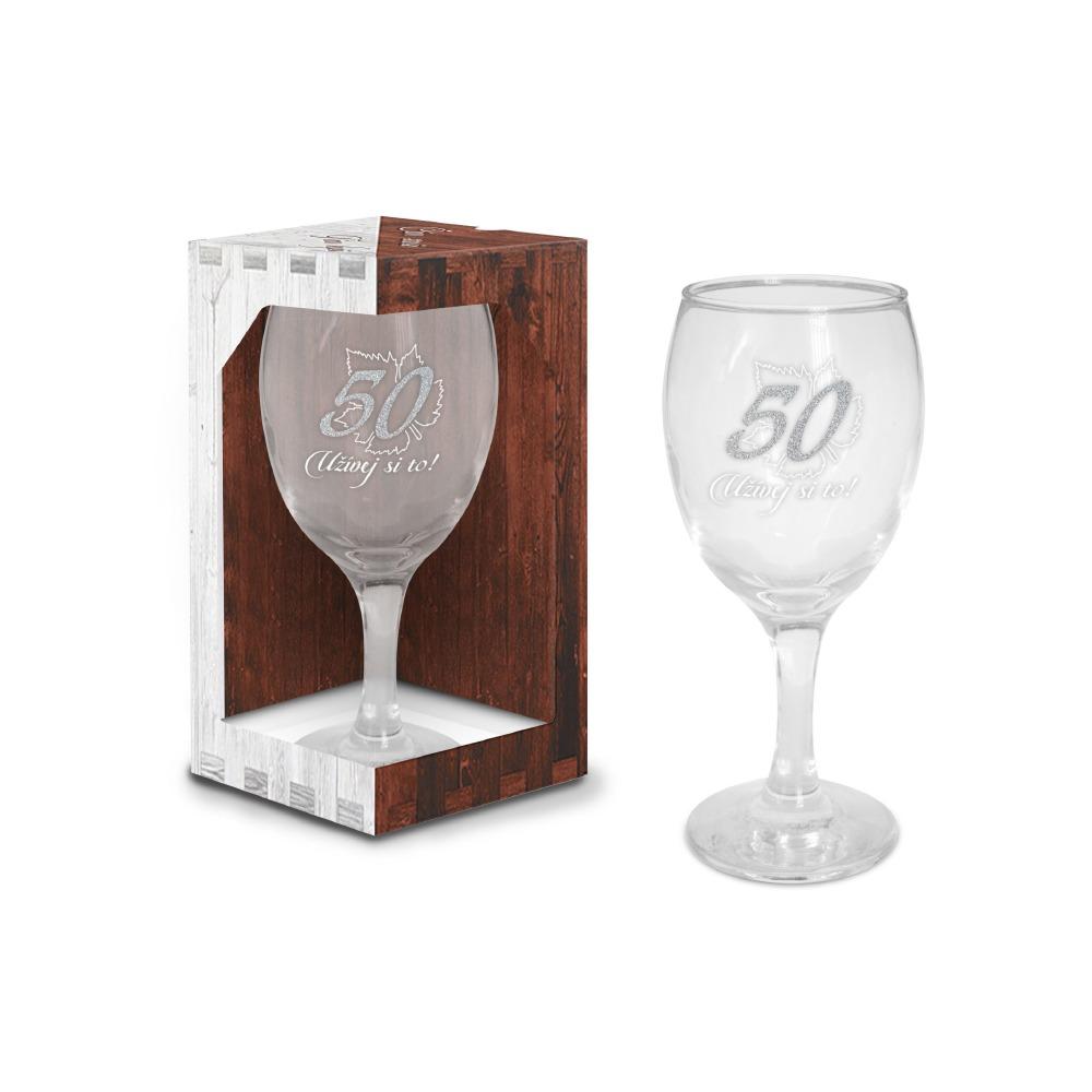 Sklenice na víno - narozeniny 50