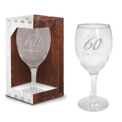 Sklenice na víno - narozeniny 60