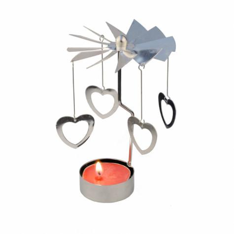 Kolotoč na čajovou svíčku - Srdíčka