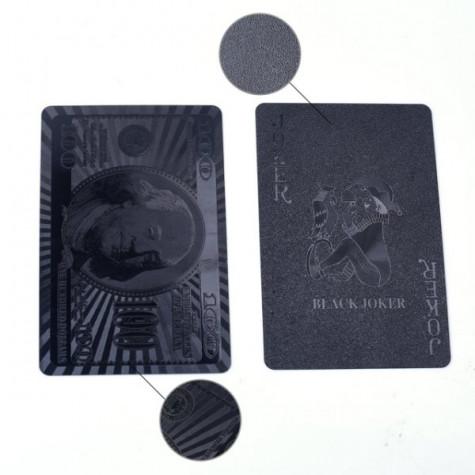 Luxusní černé hrací karty - 54 ks