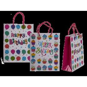 Dárková taška - Happy birthday balonky