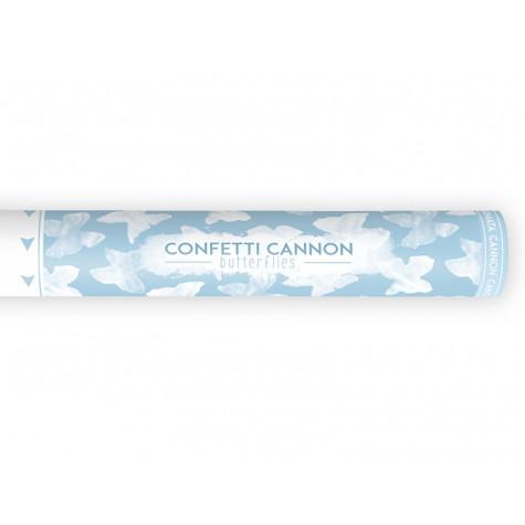 Vystřelovací svatební konfety 40 cm - motýlci
