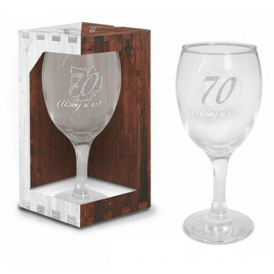Sklenice na víno - narozeniny 70