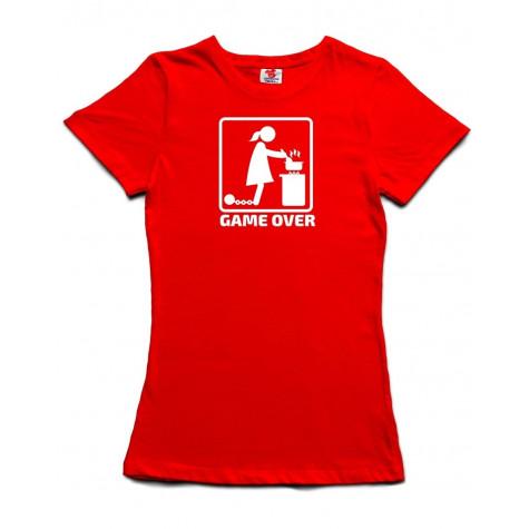 Tričko dámské - GAME OVER - červené