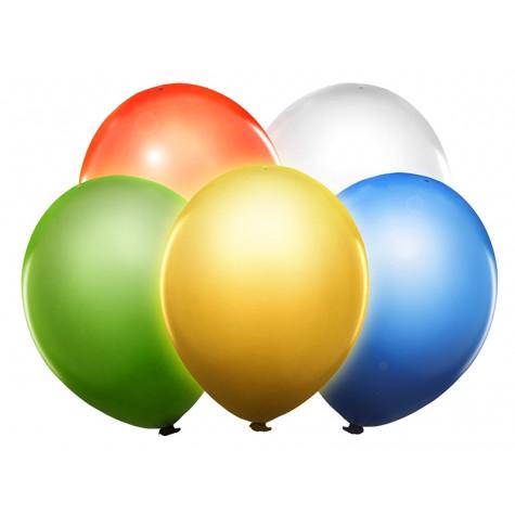 Svítící LED balónky 5 ks - mix barev