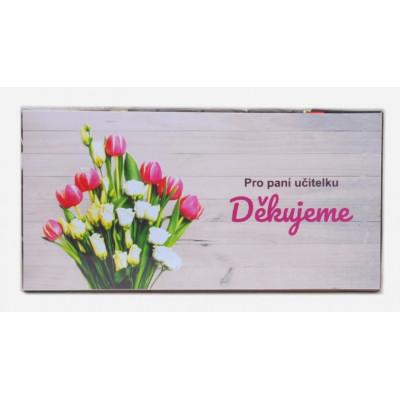 Sada 8 ks čokoládek Pro paní učitelku 1 - rose + tulip