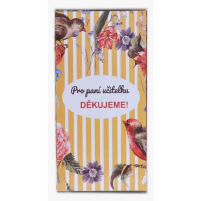 Sada 8 ks čokoládek Pro paní učitelku 3 - ptáček