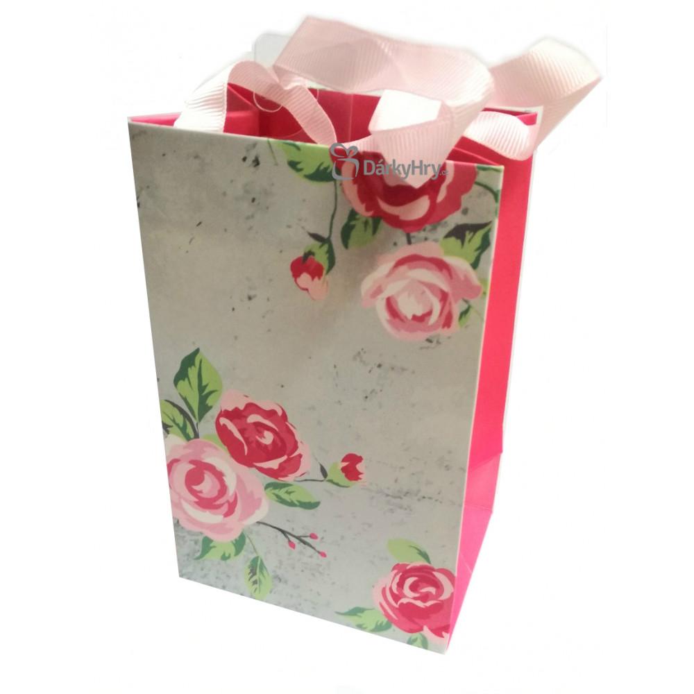 Dárková taška - Růže - malá 17x11x8