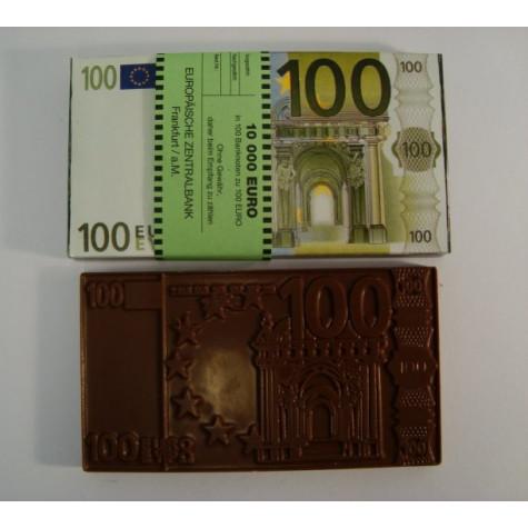 Čokoládová EURO bankovka