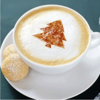 Šablony na zdobení kávy