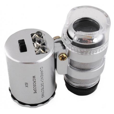 Kapesní mikroskop s LED osvětlením 60x ZOOM
