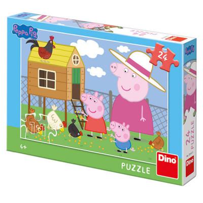 Dino Peppa Pig Prasátko Pepina: Slepičky puzzle 24 dílků