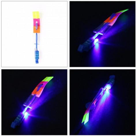 Vystřelovací vrtulky s LED osvětlením – balení 10 ks