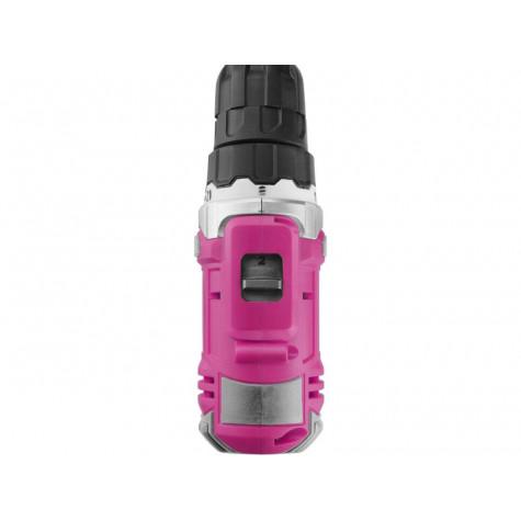 Extol Lady Růžový Aku vrtací šroubovák, 12V Li-ion, 1300mAh, sada v tašce pro ženy