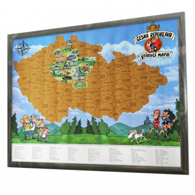 Stírací mapa Česká republika
