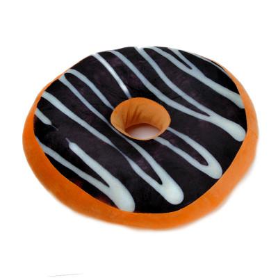 Polštář Donut - hnědý