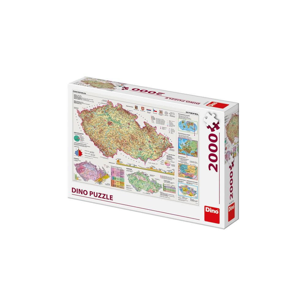 Dino Puzzle Mapy České republiky 2000 dílků