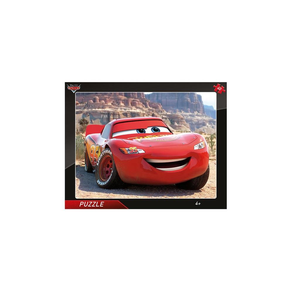 Dino Cars Blesk McQueen puzzle 40 dílků