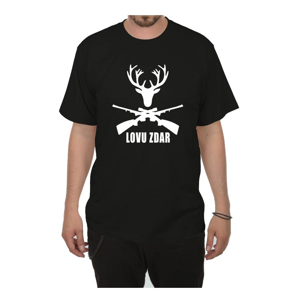 Tričko - Lovu zdar - černé