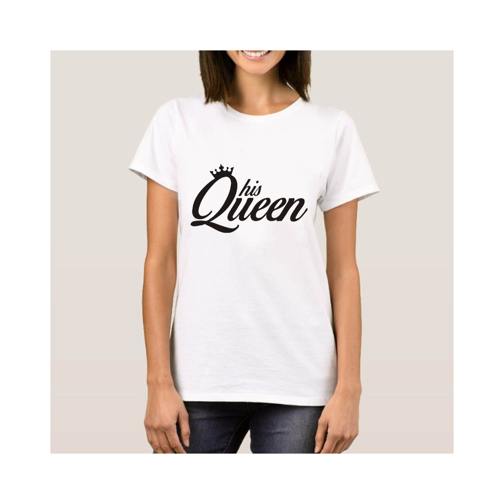 ... Tričko dámské - His Queen - bílé 7a0ebbebf3