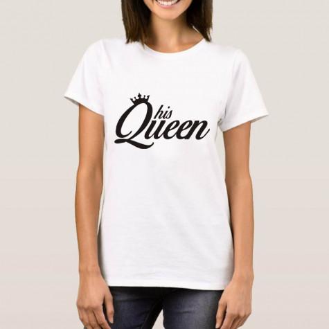 ... Tričko dámské - His Queen - bílé ... 625640cb59
