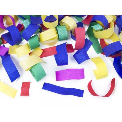 Konfety vystřelovací 40cm - barevné pásky