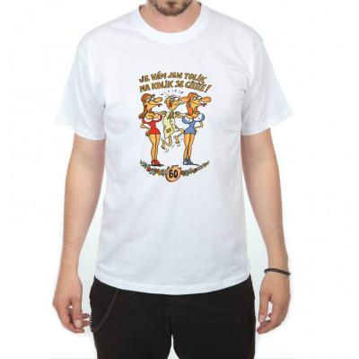 Tričko - Výročí muž 60 - bílé