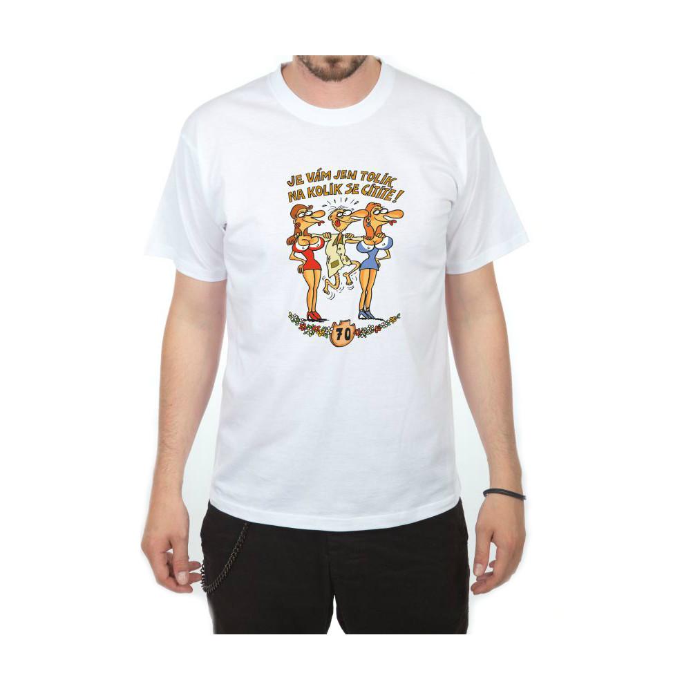 Tričko - Výročí muž 70 - bílé