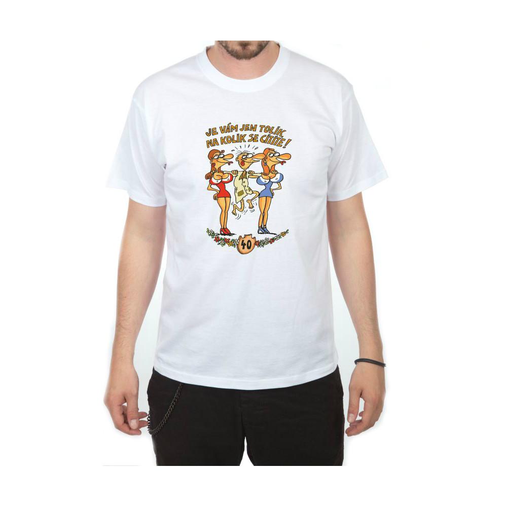 Tričko - Výročí muž 40 - bílé