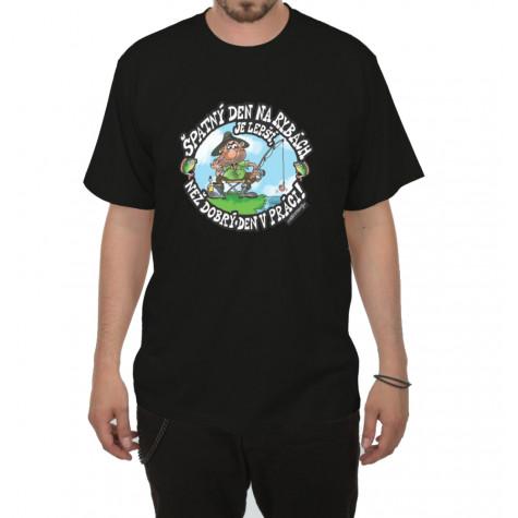 Tričko - Špatný den na rybách - černé