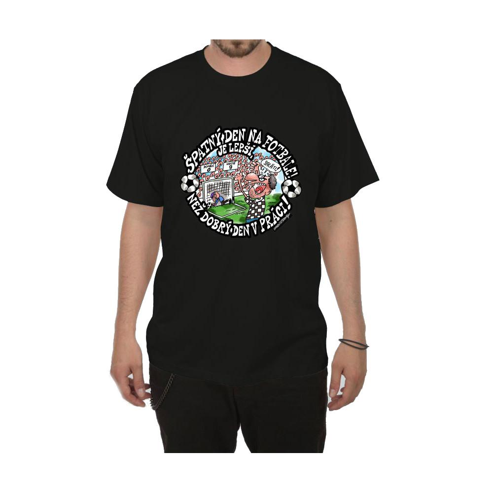 Tričko - Špatný den na fotbale - černé