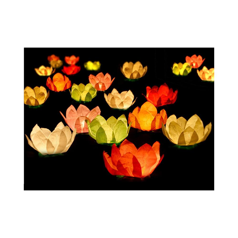 Vodní lampióny 6 ks - mix barev