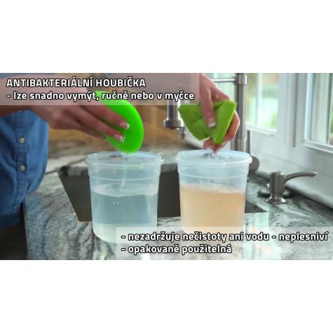 Antibakteriální silikonová houbička - zelená