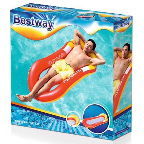 Bestway 43103 Nafukovací lehátko Aqua Lounge 160 x 84 cm - červené