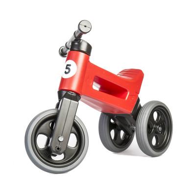 Funny Wheels odrážedlo New Sport 2v1 s gumovými koly - červené