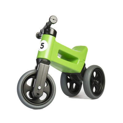 Teddies Odrážedlo Funny Wheels New Sport 2v1 s gumovými koly - zelené