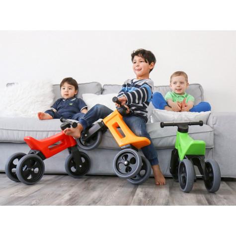 Funny Wheels odrážedlo New Sport 2v1 s gumovými koly - zelené