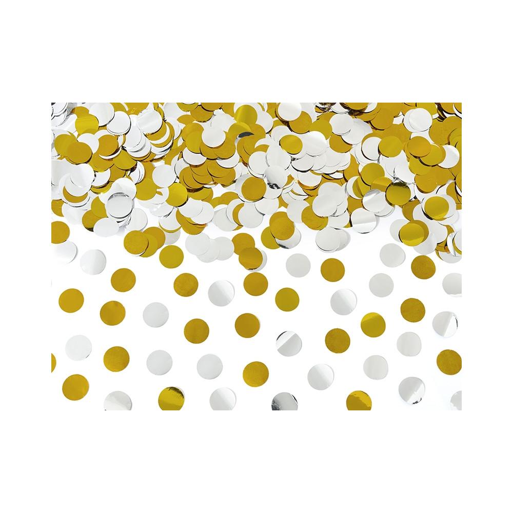 Konfety vystřelovací 40 cm - zlaté a stříbrné