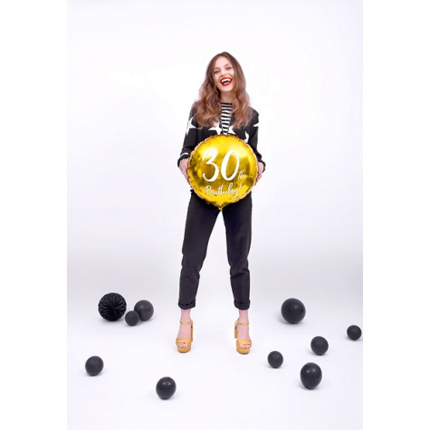 Foliový balónek zlatý - 30. narozeniny