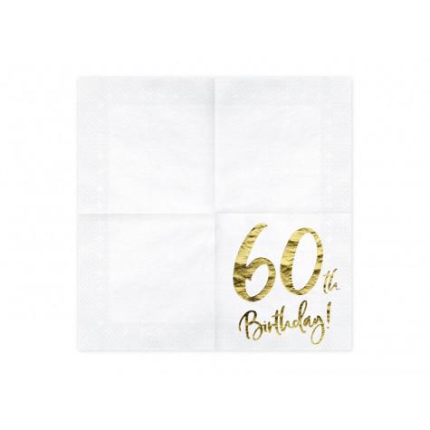 Narozeninové ubrousky - zlaté - 60