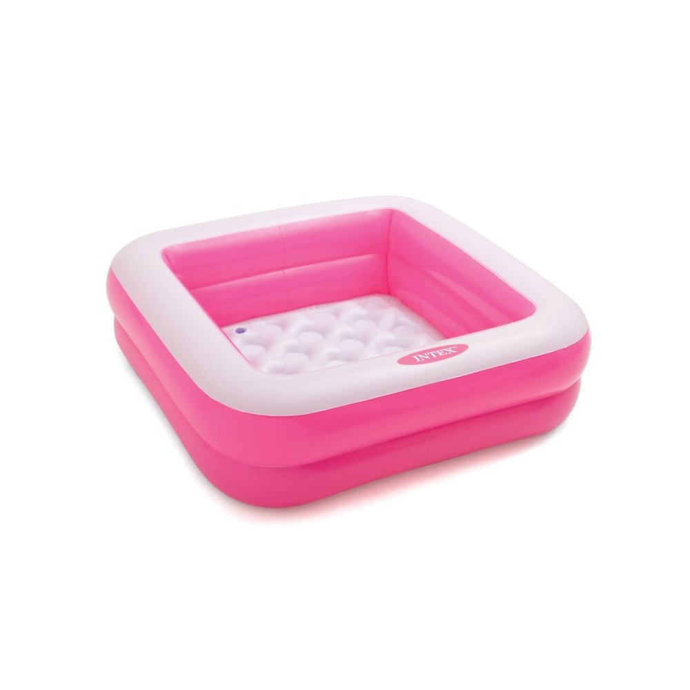 Intex 57100 Bazén nafukovací čtvercový 85x85x23cm - růžový