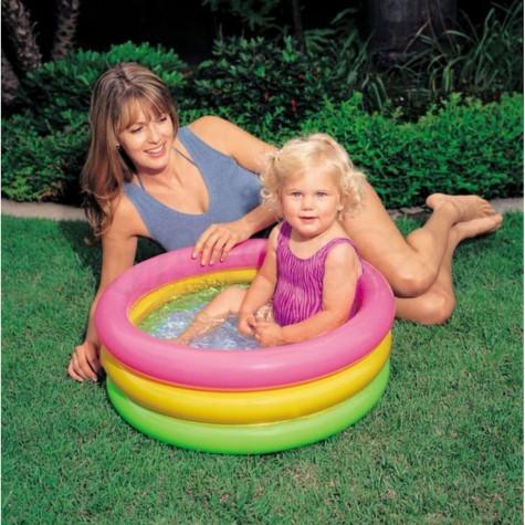 Intex 57107 Bazén dětský tříbarevný nafukovací dno 61x22cm