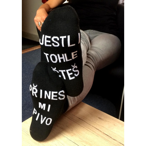 Ponožky - Přines mi pivo - vel. uni