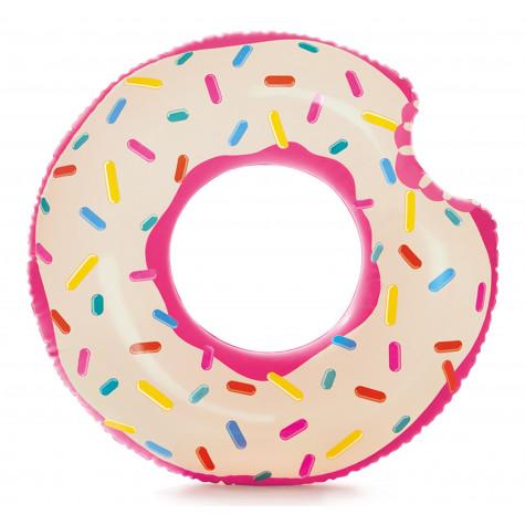 Intex 56265 Nafukovací kruh donut růžový 107x99cm