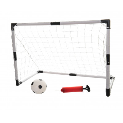 Branka fotbalová 2ks + míč 88x60x45cm