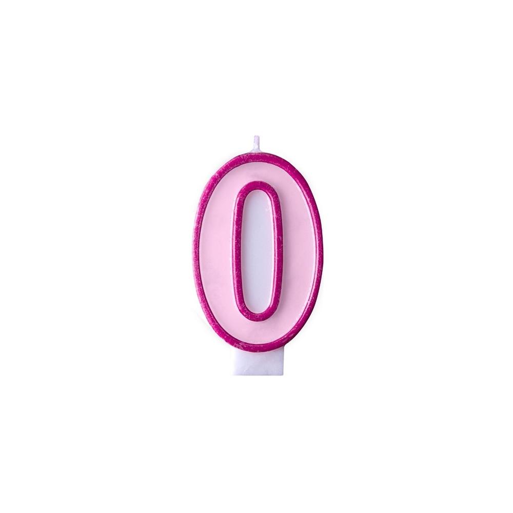 Narozeninová svíčka číslo 0 - růžová