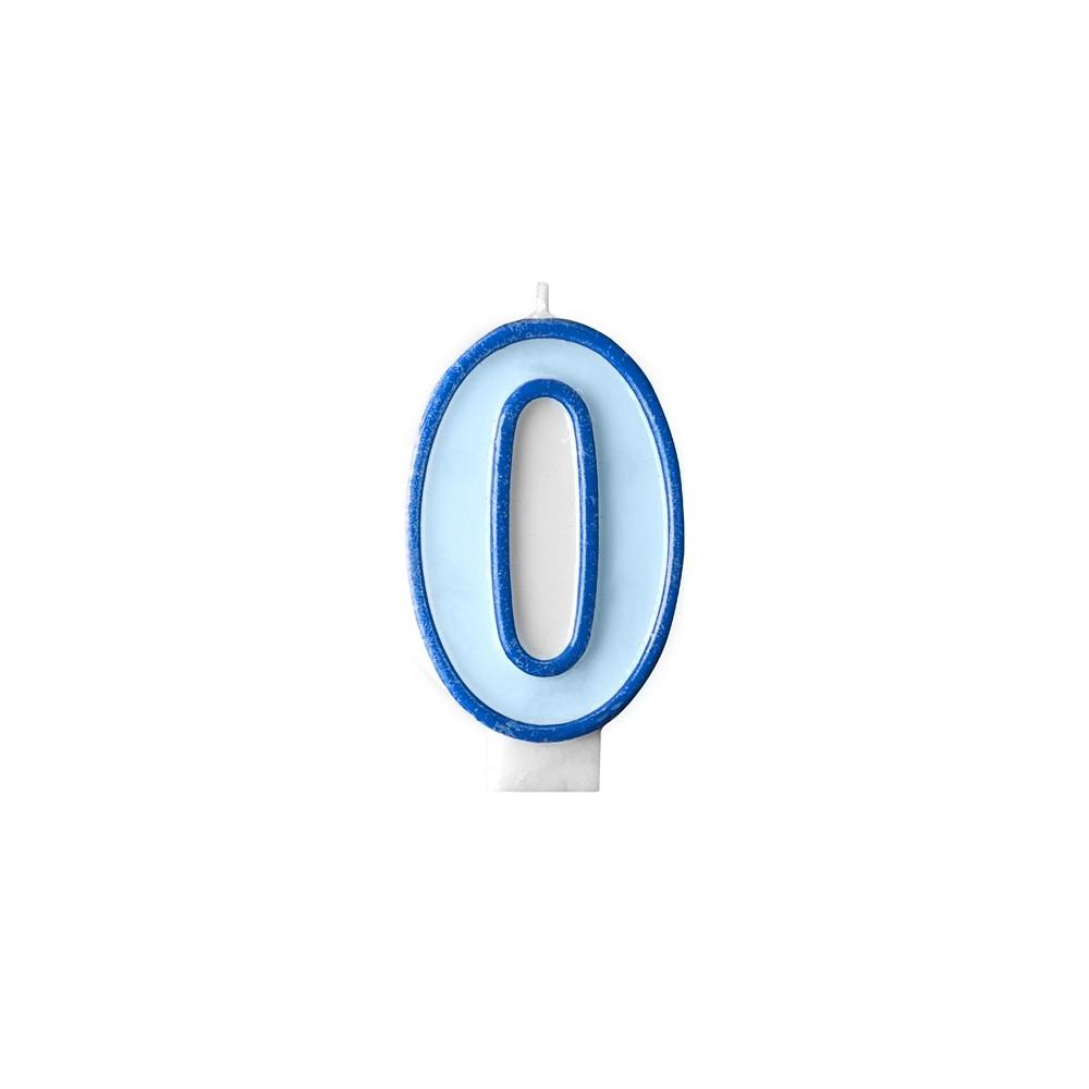 Narozeninová svíčka číslo 0 - modrá