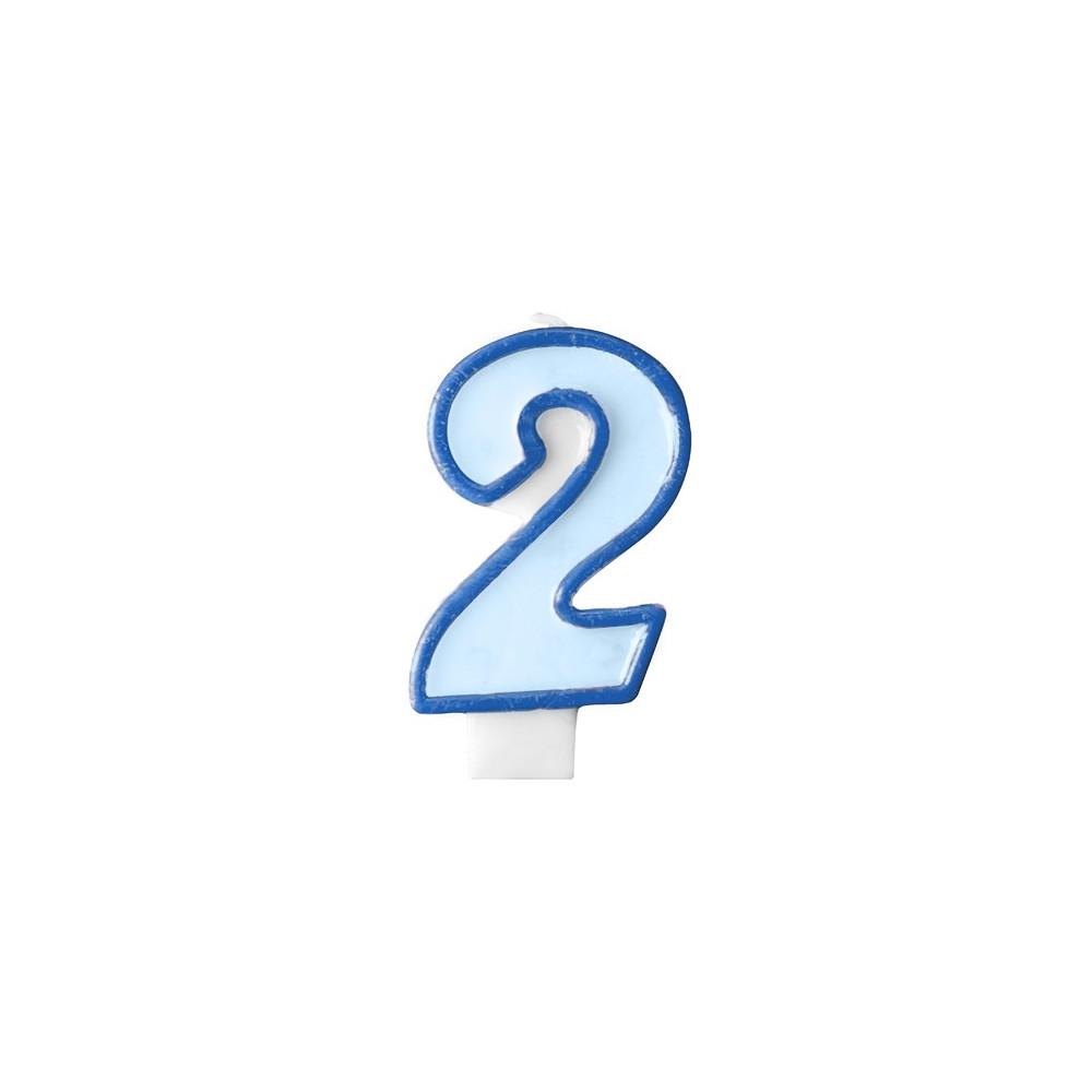 Narozeninová svíčka číslo 2 - modrá